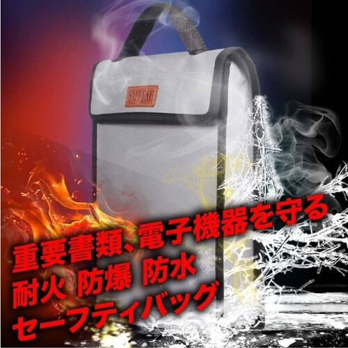 Fireproof bag protecting valuables
